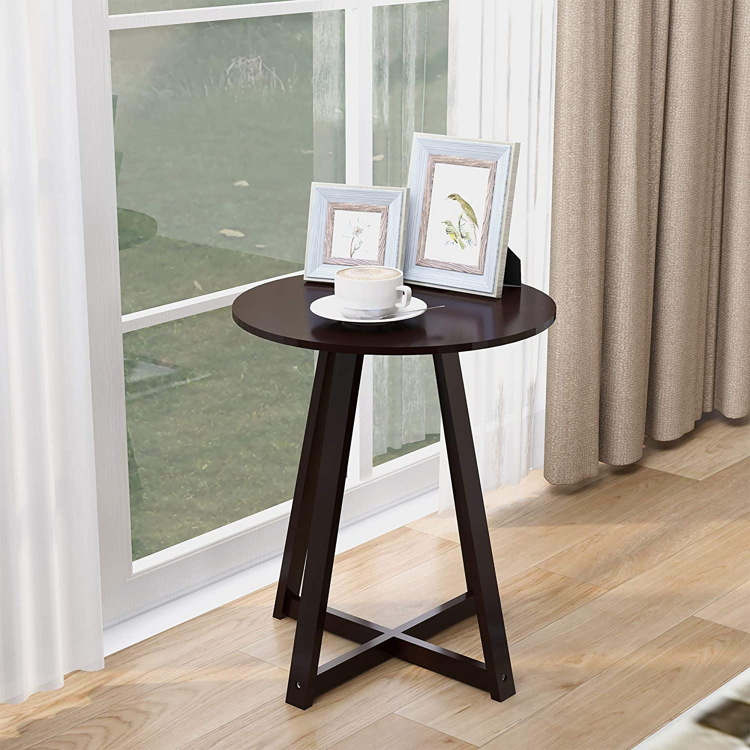 hongxinq End Table Small Online limited product and Round Sacramento Mall Coffee L Le Sharp with