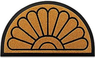 JeemeeSpace Durable Rubber Door Mat, Half Round Front Indoor Outdoor Doormat, Heavy Duty Welcome Mat, Entrance Rug for Ent...
