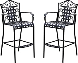 Best wrought iron bar height patio chairs Reviews