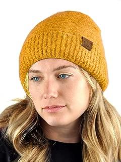 C.C Unisex Solid Color Warm Boucle Knit Skull Cap Cuff Beanie