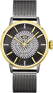 JBW Luxury Women's Belle 12 Diamonds & Pave Crystal Stainless Steel Mesh Watch