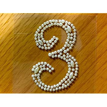 "CraftbuddyUS 2X /""1/"" Self Adhesive Pearl Numbers Diamante Crystal Rhinestone Gems"