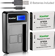 Kastar Battery (X2) & LCD USB Charger for Samsung EA-BP85A EA-BP85A/E Samsung BP85A Samsung EC-SH100ZBPBUS EC-SH100ZBPRUS EC-SH100ZBPSUS Samsung PL210 Samsung SH100 Samsung ST200 ST200F Samsung WB210