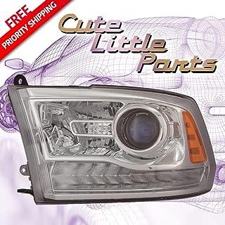 Dodge Ram 1500 Pickup 13-15 Headlight Assembly Laramie Longhorn Projector Type Chrome LH 68093217AC CH2502244