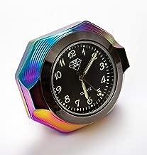 Cococart Car Clock, Automotive Air Conditioner Vent Dashboard Quartz Clock Luminous Air Fresheners Perfume Small Round Luminous Clock with Vent Clip Dia. 1.4
