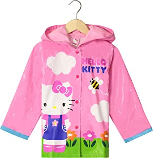 764f86ee8 SANRIO Hello Kitty Little Girls' Waterproof Outwear Hooded Rain Coat -  Toddler