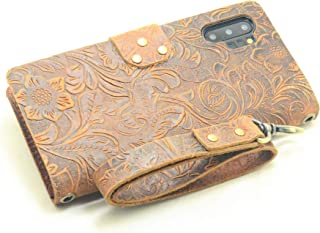 JJNUSA Handmade Genuine Distressed Leather Wallet Case for Samsung Galaxy Note 10 Plus pro 5G Flip Cover