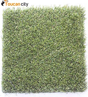 Toucan City Carpet Sample-Trugrass- Color Tan Artificial Grass 8 in. x 8 in. TE-853675