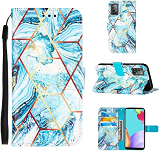SharSon Galaxy A52 Flip Case för Samsung Galaxy A52 fodral läder PU mobiltelefonfodral plånbok marmor läderfodral 3 kortfa...