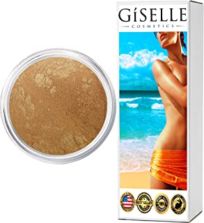 Face Powder Makeup | Girl's Best Friend - Medium | Mineral Makeup Powder, by Giselle Cosmetics | Pure, Non-Diluted Compact Powder Mineral Sunscreen Make Up Veil