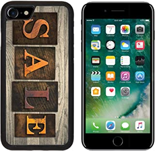 Luxlady Apple iPhone 8 Case Aluminum Backplate Bumper Snap iPhone8 Cases Image ID: 35334572 The Word Sale Written in Wooden Letterpress Type