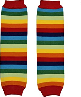 New Multicolor Stripes Baby Knee Pads Leg Warmer/Leggings Red Rainbow 80580-1