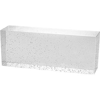 1 St/ück Crystal Collection poliert Glasziegel Gl/änzend 20x10x5 cm