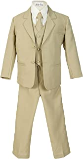 Boys Formal 5 Piece Suit with Shirt and Vest