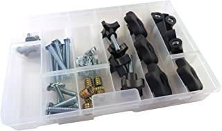 46 Piece Jig Fixture T Track Hardware Kit 1/4 20 Threads with Knobs, T Bolts, Threaded Inserts 48PJHK-1/4