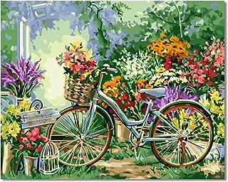 Bougimal Pintar por Numeros Adultos Niños para DIY Pintura por números con Pinceles y Pinturas Decoraciones para el Hogar sin Marco de 40 X 50 cm