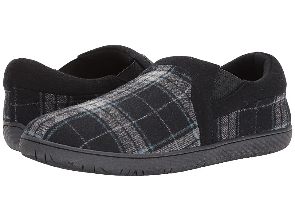 Foamtreads Jacob (Black Plaid) Men's Slippers