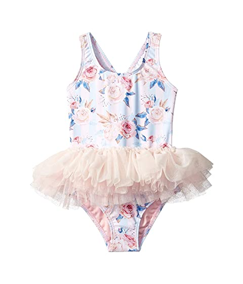 0ce990a4e7f66 Rock Your Baby Blue Striped Peony Tulle One-Piece (Toddler/Little Kids/Big  Kids)