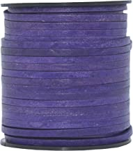 Violet Natural Xsotica-Flat Leather Cord 3.0 MM X 1.0 MM 1 Yard