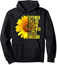 September Women Birthday Sunflower Funny Quote Gift Pullover Hoodie