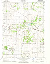 Historic Pictoric - Illinois Maps - 1964 Elburn, IL USGS - Topographic Wall Art : 24in x 30in