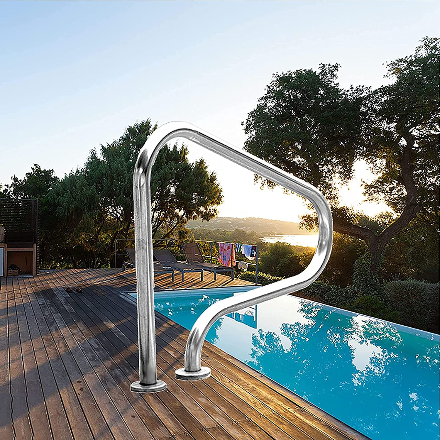 OLAC Swimming Pool Limited price Ramp 304 Cheap Stainless Handrails Steel