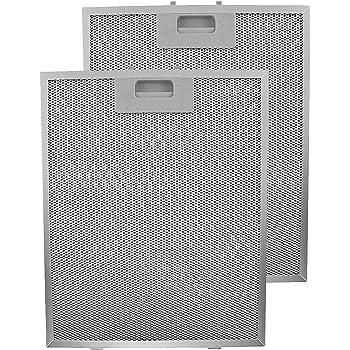 2 x Baumatic Cappa Metallo Rete Alluminio Grasso Filtri 320mm x 260mm NUOVO