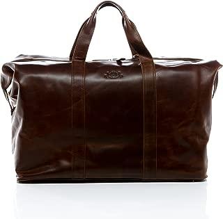 travel bag CHESTER - weekender leather tan-cognac - duffel - sports bag