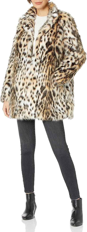 RACHEL Rachel Roy Women's Faux Fur Mid Length Coat