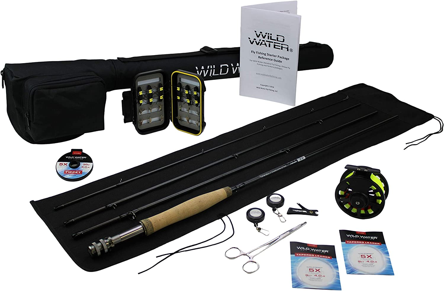 Wild Water Fly Fishing Max New life 48% OFF Deluxe 5 Weight Fishi 8 Piece 4 Foot