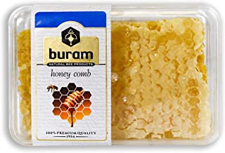 Buram 100% Pure, Gourmet Raw Honeycomb, 100% All-Natural, No Additives, No Preservatives, From the Turkish Mountains 7.1 oz Pack of 1