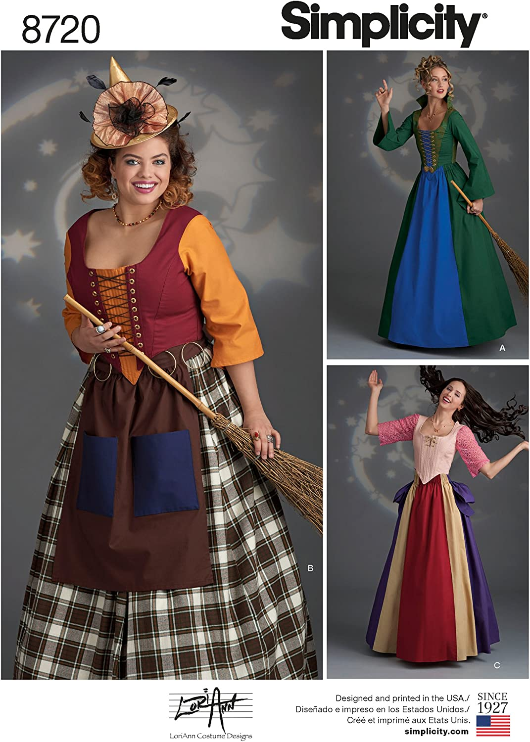 Simplicity 8720 Milwaukee Mall Women's Fairy Tale Excellence Witch Pattern Sewing Costume