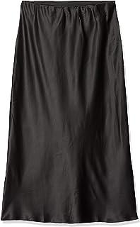 Ladies Satin Column Midi Skirt Falda para Mujer