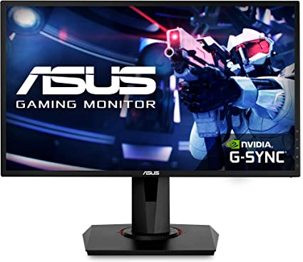 """ASUS 24"""" 1080P Gaming Monitor (VG248QG) - Full HD, 165Hz (Supports 144Hz), 0.5ms, Extreme Low Motion Blur, Speaker, Adaptive-Sync, G-SYNC Compatible, VESA Mountable, DisplayPort, HDMI, DVI-D , Bl..."""
