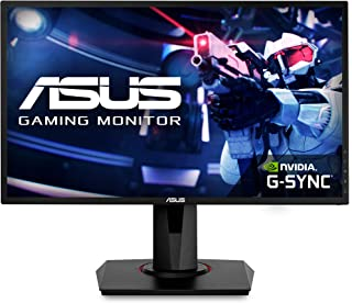 """ASUS VG248QG 24"""" Gaming Monitor, 1080P Full HD, 165Hz (Supports 144Hz), G-SYNC Compatible, 0.5ms, Extreme Low Motion Blur, Eye Care, DisplayPort HDMI DVI,Black"""