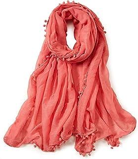 ALBERTO CABALE Ampio Scialle per Donne di Moda in Morbido Cottone e in Colori Solidi
