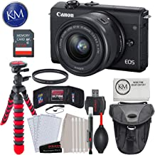"$499 » Canon EOS M200 Mirrorless Digital Camera with 15-45mm Lens (Black) with 32GB & Essential Bundle: Includes – Holster Bag, 12"" Tripod, and Striker Starter Kit."