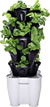 Mr. Stacky Smart Farm - Automatic Self Watering Garden - Grow Fresh Healthy Food Virtually Anywhere Year Round - Soil or Hydroponic Vertical Tower Gardening System (Standard Kit, Black)