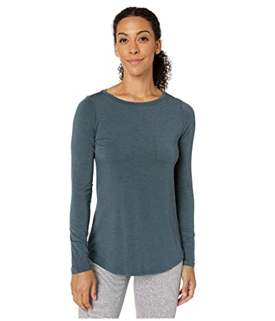 Prana Foundation Long Sleeve Tunic (Grey/Blue Heather) Women