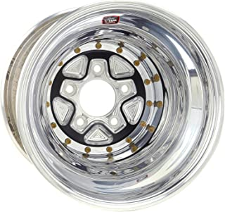 Weld Racing 89B-616558K Weld Pro Drag Alumastar PRO; Size 16x16 in.; Bolt Pattern 5x5.5 in.; -114.3 Offset; Back Spacing 4in.; Black Center; Polished Shell; Bore Diameter 3.5in./88.9mm.;