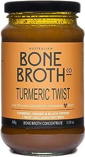 Australian Beef Bone Broth Concentrate -Turmeric Twist flavor - Turmeric, Ginger, Black Pepper Bone Broth Beverage Made in Australia 375 grams