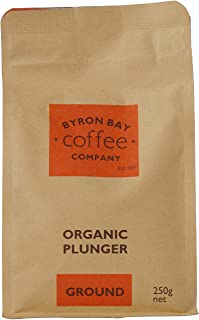 Byron Bay Coffee Company Certified Organic Coffee, Plunger Ground, 250g