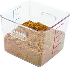 Rubbermaid Commercial Products FG630600CLR 6306CLE SpaceSaver Square Containers, 6qt, 8 4/5w x 8 3/4d x 6 9/10h, Clear