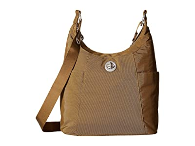 Baggallini International Triple Threat Basel Hobo (Butternut) Hobo Handbags