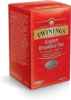 Twinings English Breakfast Schwarztee  loser Tee 200g, Voller, runder und kräftiger Schwarztee aus den besten Teegärten von Sri Lanka und Indien. Black Tea 1er Pack 1 x 200 g