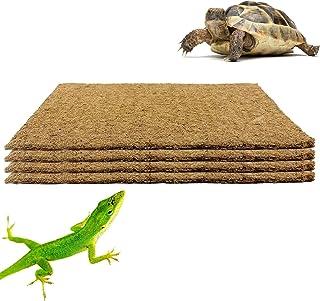 Alpurple 4 Packs Pet Terrarium Liner Reptile Mat-1610 Inch Natural Coconut Fiber Substrate Mat, Coco Fiber Liner for Lizar...
