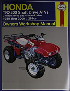 Honda Trx300 Owners Workshop Manual 1988 Thru 1995 (Haynes Owners Workshop Manuals)