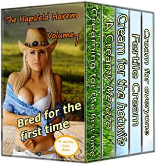 The Hapsfeld Harem Hucow Megabundle: Creamy Hucows milked and creamed by sexy alpha bulls (*5 TABOO STORIES*)