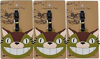 Set of 3 - Super Cute Kawaii Cartoon Silicone Travel Luggage ID Tag for Bags (Totoro 3)