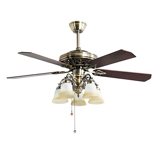 Vintage Style Ceiling Fans With Lights Amazon Com